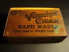 Circa 1920s Voucher Cigar Box, Burlington, Wisconsin