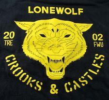Vintage Crooks and Castles 2002 Lonewolf Men's T-Shirt M
