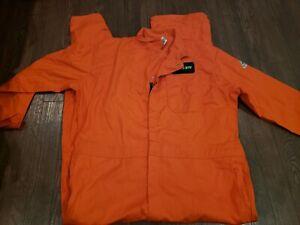Bulwark FR FRC Men's Long Sleeve Coverall Work Wear orange HRC 52-LN 52 Long