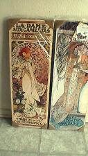Renaissance Theater  Sarah Bernhardt Set of 2 Hand Painted Reversible Framed Art