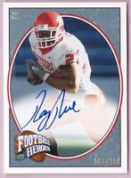 RAY RICE 2008 UPPER DECK FOOTBALL HEROES AUTO BLUE AUTOGRAPH