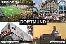 SOUVENIR FRIDGE MAGNET of DORTMUND GERMANY