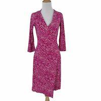 Diane Von Furstenberg Iconic Silk Jersey Wrap Dress Women's Size 2 DVF Midi