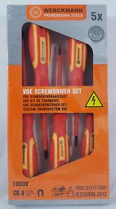 5 tlg. VDE Schraubendreher-Set Profi-Qualität Elektriker Schraubenzieher Elektro