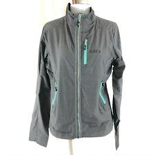 Louis Garneau Womens Jacket Windbreaker Vented Moisture Wicking Packable Gray M
