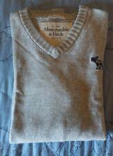 Maglione Abercrombie & Fitch Uomo, Taglia M, in cotone, Usato Perfetto, Bianco