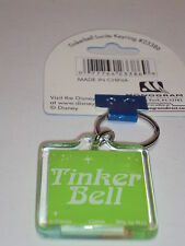 Tinker Bell  Lucite  Key Chain Keychain Disney New