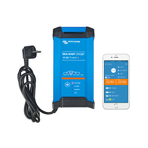 Victron 12V 30A IP22 Smart Battery Charger - Bluetooth Control  - 3X Outputs