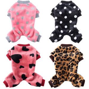Warm Fleece Pet Dog Jumpsuit Pajamas Clothes Fashion Puppy Cat Coat Homewear New