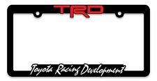 TRD Toyota Racing Development License Plate Frames, 3-D Raised Letter Frames