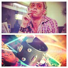 Fear & Loathing Raoul Duke Gonzo Leather Bracelet Wristband Johnny Depp Cuff
