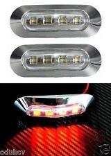 2x LED 24V post. rosso cromo luci di ingombro camion Lkw Rimorchio AUTOBUS
