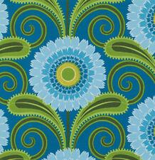 Jane Sassaman Sweet Lady Jane Daisy Chain Fabric in Teal PWJS049 100% Cotton