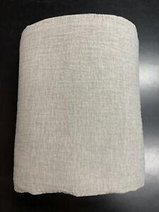 Restoration Hardware Wash Linen Channel Quilted Coverlet King Cali King Fog Grey