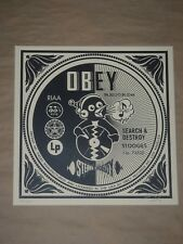Shepard Fairey Search and Destroy album cover Obey Giant signed poster print