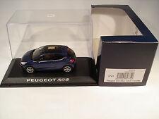 Norev 472774 1/43 Peugeot 208 3-Portes 2012 Bleu Virtuel (Boîte Peugeot)