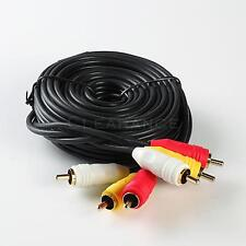 12 Ft Gold Plated Rca Audio Video Av Cable For Hdtv Dvd Vcr