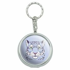 Spotted Snow Leopard Face Portable Travel Ashtray Keychain