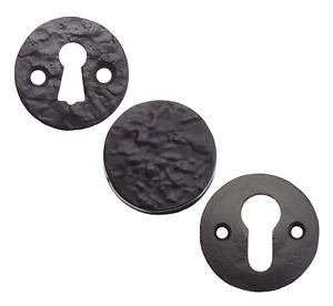 Black Antique Cast Iron Flat Escutcheon Key Hole Door Lock Furniture Cover