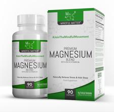 Mindful Magnesium Blend | Glycinate, Taurate, Malate, Zinc & B6 I 90 Capsules