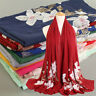 Women Ladies Scarf Embroidered Flower Floral Cotton Shawl Scarves Hijab Pretty