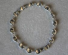 Tiffany & Co. Peretti .925 Sterling Silver Continuous Bean Bracelet 7.5 Inches