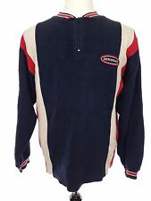 Abercrombie & Fitch A&F Red White Blue Color Block 1/4 Zip Sweater, Mens Large