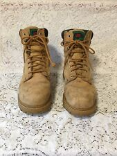 LONE WOLF LEATHER INSULATED STEEL TOE Beige Brown Work BOOTS Men's Size 10