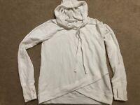 Athleta White Hooded Sweatshirt Size XS