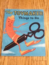 Vtg Toymaker Things To Do Softcover Book Saalfield Pub Co. Copyright 1937