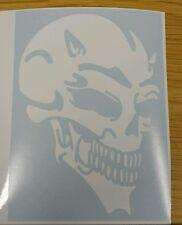 Devil Skull - White std - Car Van Window Vinyl graphics sticker Decal Tribal
