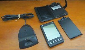 Handspring Visor W/ Leather Case - USB Craddle - Back Cover