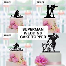 Superman and Wonderwoman Wedding Cake Topper Superhero Party Decoration Mr Mrs