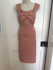 BNWT River Island Pink Blush Wiggle Pencil Dress Size 14