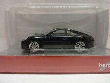 Herpa 038638-002 Porsche 911 carrera 4s profundamente negro metálico 1:87 nuevo