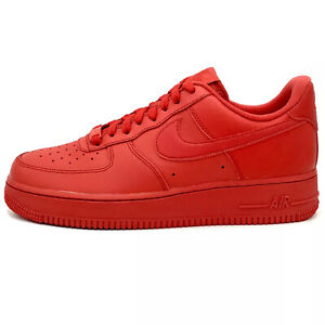 Nike Air Force 1 Low '07 LV8 'Triple Red' Sneakers (CW6999-600) Men's Sizes