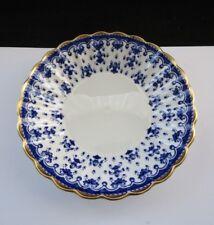 """Spode Fleur De Lys Blue With Gold Rim Y8008 Fruit Desert Bowl 5"""""""