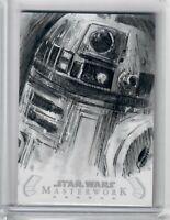 2020 Star Wars Masterwork Patricio Carrasco Sketch Card R2-D2 BEAUTY 1 OF 1