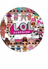"""LOL Edible Round 7.5"""" Cake Toppers"""
