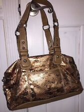 NWOT Kathy Vanzeeland Bronze Metallic Handbag Big Front Pockets