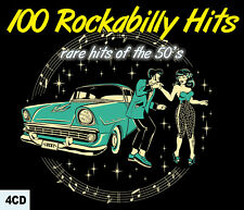 CD 100 Rockabilly Hits - Rare Hits of the 50's - Coffret 4 CD