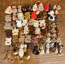 HUGE Lot of 66 MINIATURE TEDDY BEARS Dollhouse Collectibles