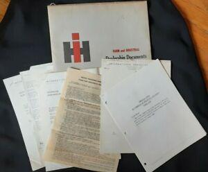 IH International Harvester Company Dealers Papers & Envelope Logo 1960 Sales
