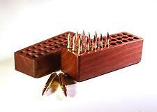30 Rd Walnut Wood Ammo Cartridge Box / Loading Block For 25-06~30-06~270~280~8mm