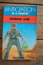 """FLEUVE NOIR ANTICIPATION N° 887: Génération """" Alpha """""""