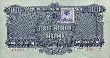 Tschechoslowakei 1000 Kronen (1945) Pick 057s (2)