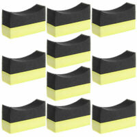 10pcs Set Car Tyre TireDressing Applicator Curved Foam Brush Sponge Pad Parts