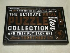 NIB Ultimate Metal Puzzle Collection Set of 10 The Puzzler's Guild IQ Boxed Set