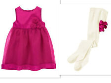 NEW GYMBOREE  Dressy Party Wedding Dress With Tights NWT SIZE 6-12 MTHS