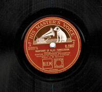 "FIEDLER  SANROMA BOSTON PROMENADE ORCH Rhapsody In Blue 78 rpm 12"" HMVC2807 DA"